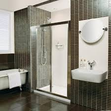Bathroom Vanity With Tile Walls Ideas And Claw Foot Tub Also Roman Shower  Design With Tile