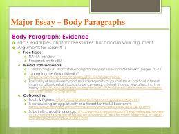 social globalization ppt video online  major essay body paragraphs