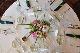 Table center piece for a wedding or event with Pink , White and Green theme  ...