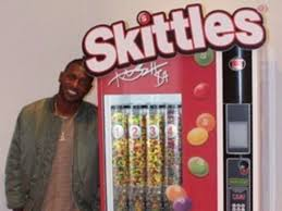 Create The Rainbow Skittles Vending Machine Enchanting Skittles Give Antonio Brown Custombuilt Vending Machine TheScore