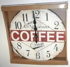 wall kitchen clock espresso coffee