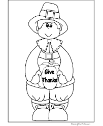 Kid Thanksgiving coloring pages to print 004