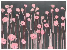 full size of kids room wall decor design for two poppies in pink and gray fl
