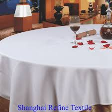 ordinary whole cotton bedding restaurant table linens white polyester round wedding table cloth refine textile