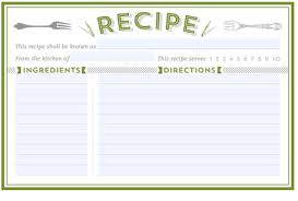 Index Card Recipe Template Printable Recipe Card Template Room Surf Com