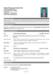 Sample Of A Beautiful Resume Format Of Mba Fresher Resume Formats