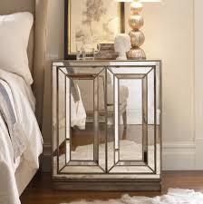 Mirrored Furniture In Bedroom Hooker Furniture Bedroom Sanctuary Two Door Mirrored Nightstand