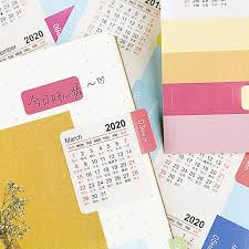 Monthly Calendar Notebook New Year 2019 2020 Monthly Calendar Sticker Diary Planner Notebook Scrapbook Decorative Stickers Accessory Diy Statinery