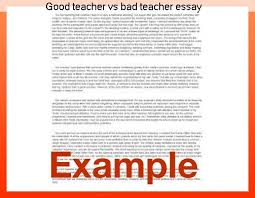essay of teacher good teacher vs bad teacher essay term paper writing service
