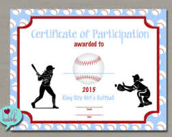 Free Printable Softball Certificates Lacrosse Sports Award Certificate 8 5 X 11 Printable Digital Etsy