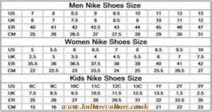 Women S Shoe Size To Kids Conversion Chart 49 Circumstantial Nike Kids Sizing Chart
