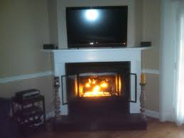 corner fireplace with tv insert