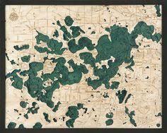 Lake Arrowhead Depth Chart Lake Winnipesaukee 3 D Nautical Wood Chart 24 5 X 31 East