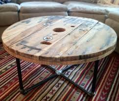 table recycled materials. DIY Unique Round Coffee Tables From Recycled Materials Table C