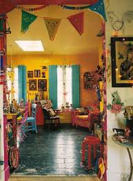 home decorating ideas bohemian yellow