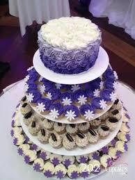 Purple Wedding Cake And Cupcakes Cupcakes Canada