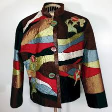 30 best jackets images on Pinterest | Jelly rolls, Mosaic and ... & Patches of silk are perfectly positioned to create this artful, abstract, designer  jacket. Adamdwight.com