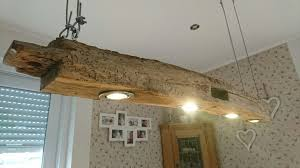 Hängelampe Holz Eiche Esstisch Antik Balken