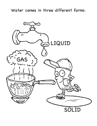 Draw Water Cycle Coloring Page For Your Free Colouring Pages And