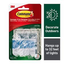 Christmas Light Hooks Walmart Command Outdoor Light Clips 16 Clips 20 Strips Pack
