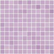 1 inch lilac purple recycled glass tile