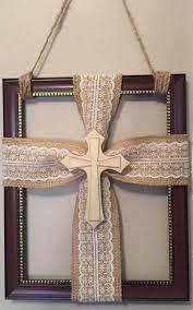 Pin by Myra Duncan Bray on craft away. .. | Cross crafts, Burlap cross,  Burlap crafts