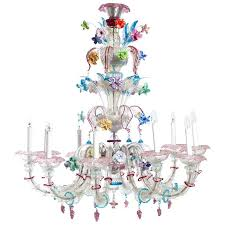 venetian glass chandelier attributed to around 1stdibs