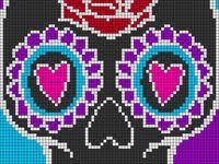 De 60+ beste afbeeldingen van <b>sugar skull</b> patronen | patronen ...