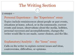 cbest california basic educational skills test ppt video online  the writing section 2 essays personal experience the experience essay