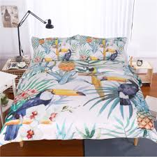 preview with zoom stylish bedding towels 3pcs 3d tropical plants