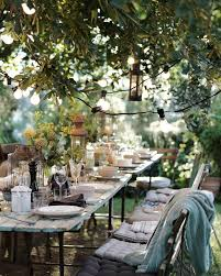 rustic outdoor dining table. Beautiful Outdoor Table Setting At Dusk #alfresco #garden #dining Rustic Dining W