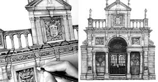 Architectural drawings of famous buildings Popular Design Is In The Details My Photorealistic Drawings Of Famous European Buildings Architecture Bored Panda Design Is In The Details My Photorealistic Drawings Of Famous
