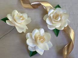 Easy Paper Flower How To Make Paper Gardenias How Tos Diy