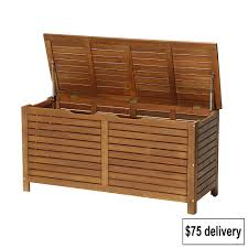 outdoor cushion storage box outside bins bench seat large