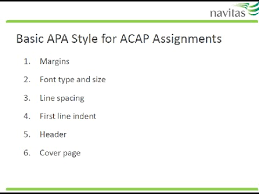 Apa Formation Basic Apa Formatting For Acap Assignments