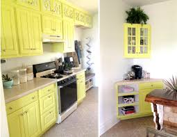 kitchen update extending cabinets up to ceiling and painting a fun color