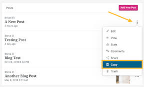 Copy Page Copy A Post Support Wordpress Com