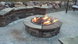 stone propane fire pit bowl make your own glass crystals gas installation outdoor safety screen colored