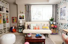 Office and playroom Craft Room Playroom10 Crate And Barrel Pattern Texture Colour Creating New Playroom Office