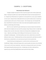 Example Essay Paper Reflective Analysis Essay Example Sample Evaluation Essay Critical