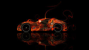 bugatti gangloff fire abstract car