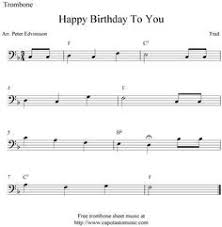 happy trombone sheet music trombone sheet music happy birthday sheet music scores happy