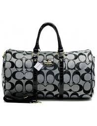 Coach Bleecker Monogram In Signature Large Grey Luggage Bags AFM  coach  014  -  72.00
