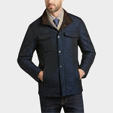 Mens Quilted Jacket | Mens Wearhouse & Pronto Uomo Navy Quilted Modern Fit Jacket Adamdwight.com