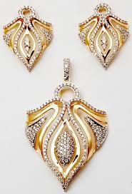 versatile pretty gold diamond pendant earring set valentine jewellery india pvt ltd g 1 15 16 gems jewellery zone epip sitapura jaipur india