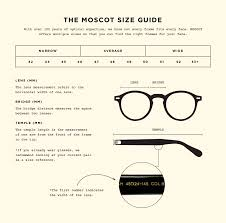 Specs Frame Size Chart Style Fit For Moscot Frames Sunglasses Moscot Customer