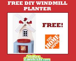 freebies free diy windmill planter at home depot