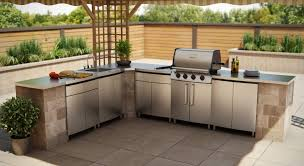 stainless steel outdoor kitchen. Kitchen:Used Stainless Steel Kitchen Cabinets French Dining Tables Brown Plus Staggering Pictures Outdoor E