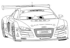 Free Cars 2 Coloring Pages Printable Free Printable R8 Racing Cars