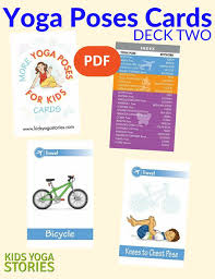 Kid Cards Yoga Poses For Kids Cards Deck Two Pdf Download Kids Yoga